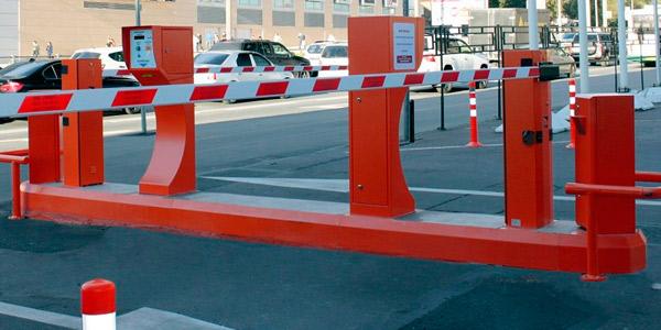 Платная парковка с реверсивным въездом-выездом и въездной стойкой